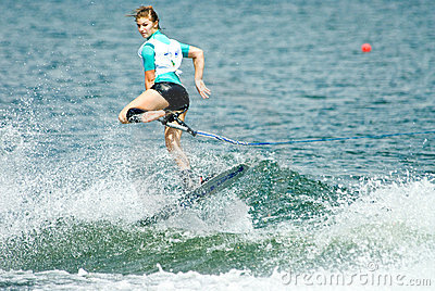 2009 Putrajaya Waterski World Cup Women Shortboard Editorial Photography