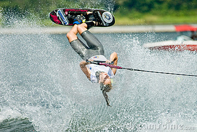 2009 Putrajaya Waterski World Cup Women Shortboard Editorial Stock Photo