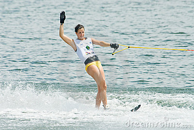 2009 Putrajaya Waterski World Cup Women Slalom Editorial Stock Image