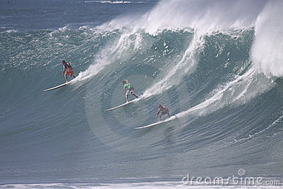 2009 Quicksilver Eddie Aikau Big Wave Event Editorial Stock Image