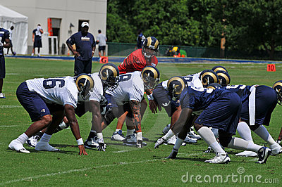 2009 Saint Louis Rams Training Camp Editorial Stock Photo