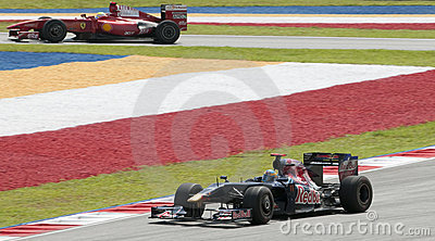 2009 Sebastien Bourdais at Malaysian F1 Grand Prix Editorial Photo