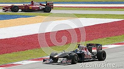 2009 Sebastien Bourdais at Malaysian F1 Grand Prix Editorial Photo