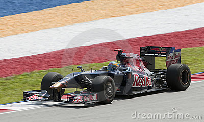 2009 Sebastien Bourdais at Malaysian F1 Grand Prix Editorial Stock Image