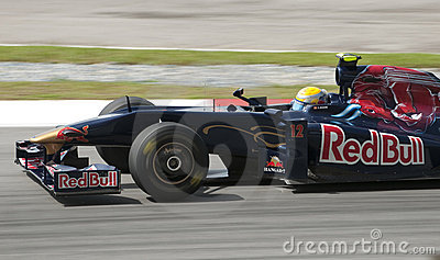 2009 Sebastien Buemi at Malaysian F1 Grand Prix Editorial Image