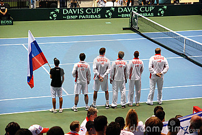 2009 Tennis Davis cup - Russian team Editorial Photo