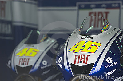 2009 Valentino Rossi s test motorcycles Editorial Photo