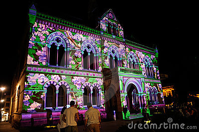 2010 Adelaide Northern Lights Festival Editorial Photo