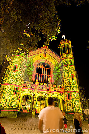 2010 Adelaide Northern Lights Festival Editorial Stock Photo