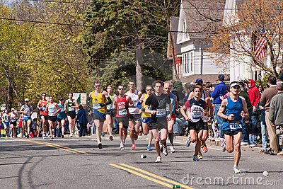 2010 Boston Marathon Runners Editorial Image