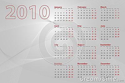 2010 Calendar Abstract