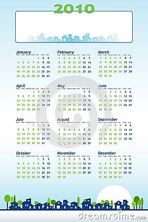 2010 Calendar - construction theme