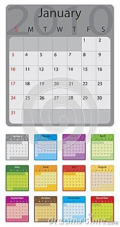 2010 colorful calendar