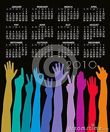 2010 Hands Calendar