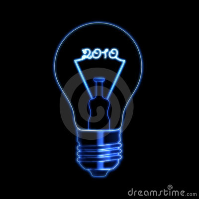 Free 2010 In Bulb Stock Photography - 11857012