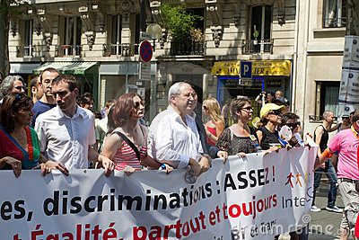 2010 Jean-Paul Huchon in Gay pride in Paris France Editorial Stock Image