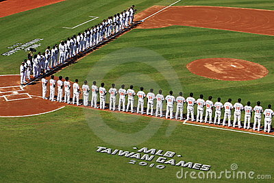 2010 MLB Taiwan Games Editorial Image