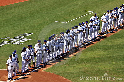 2010 MLB Taiwan Games Editorial Stock Photo