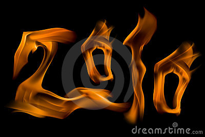 2010 number fire flame figures,isolated