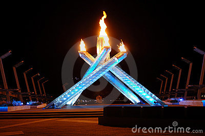 2010 Olympic Cauldron Editorial Photo
