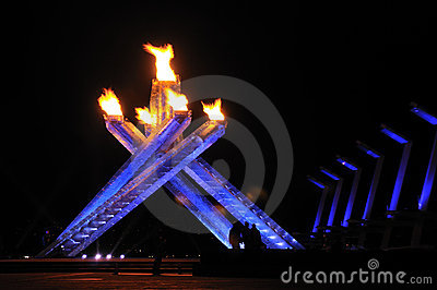 2010 olympic cauldron vancouver Editorial Stock Image