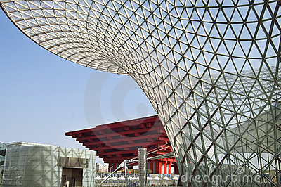 2010 Shanghai China Pavilion and Expo Axis Editorial Photography