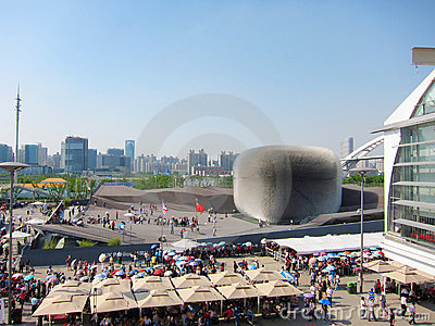 2010 shanghai expo  United Kingdom   Pavilion Editorial Photo