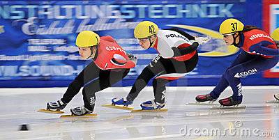 2010 Short track European championship Editorial Stock Photo