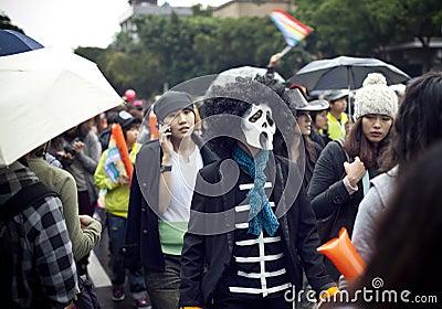 2010 Taiwan LGBT Pride Parade Editorial Stock Photo