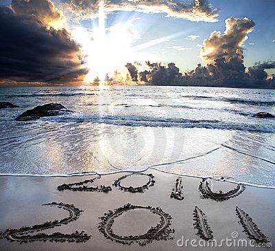 Free 2010 To 2011 On Beach Royalty Free Stock Photos - 16470988