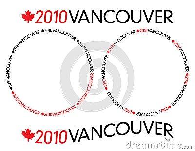 2010 Vancouver logotype Editorial Stock Photo