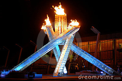 2010 Winter Olympics Cauldron Editorial Stock Photo