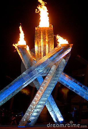 2010 Winter Olympics Cauldron Editorial Photography