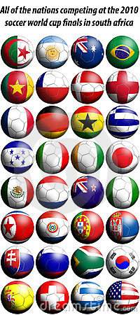 2010 world cup football flags
