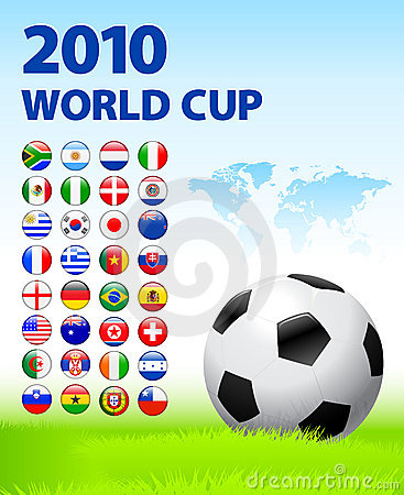 2010 World Cup Team Flag Internet Buttons with Wor Editorial Photo