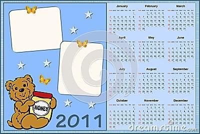 免版税库存照片: 2011年婴孩日历s图片
