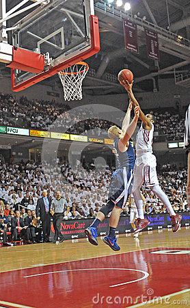 2011-12 NCAA Basketball Action Editorial Stock Photo