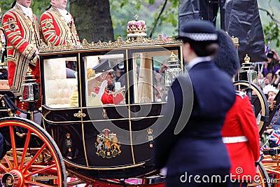 2011年女王/王后皇家婚礼 编辑类库存图片