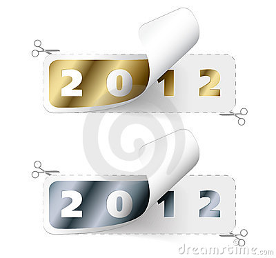 2011 / 2012 new year stickers