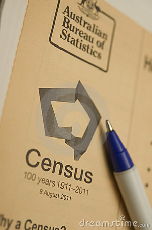 2011 Australian Census Editorial Stock Image