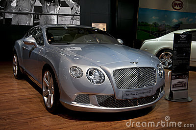 2011 Bentley Continental GT at NAIAS Editorial Stock Photo