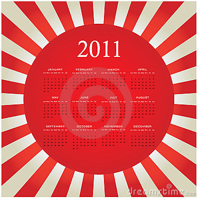 2011 bursting calendar