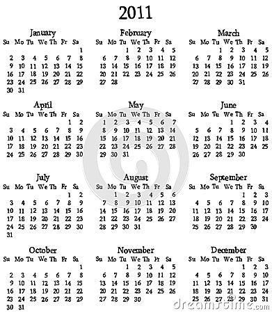 2011 Calendar Template