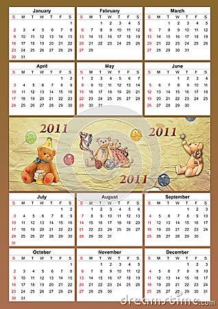 2011 childish calendar