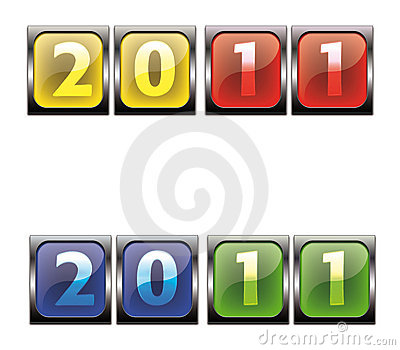2011  colorful button
