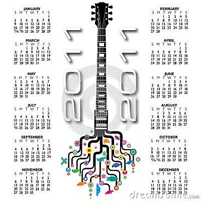 2011 guitar calendar