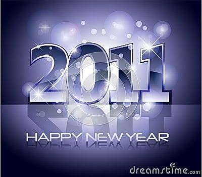 2011 happy new year illustration
