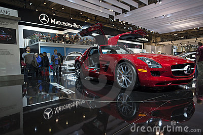 2011 Mercedes-Benz SLS AMG at 2010 Autoshow Editorial Image