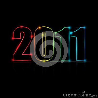 2011 Message Vector Background