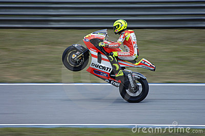 2011 MOTOGP WINTER TESTING: VALENTINO ROSSI Editorial Photo